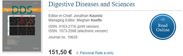 Digestive Diseases and Sciences——不要版面费(非OA)且投生信数据挖掘的期刊