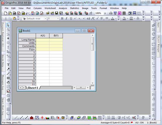 简单的绘图实例介绍Origin软件的主要操作界面-sci666