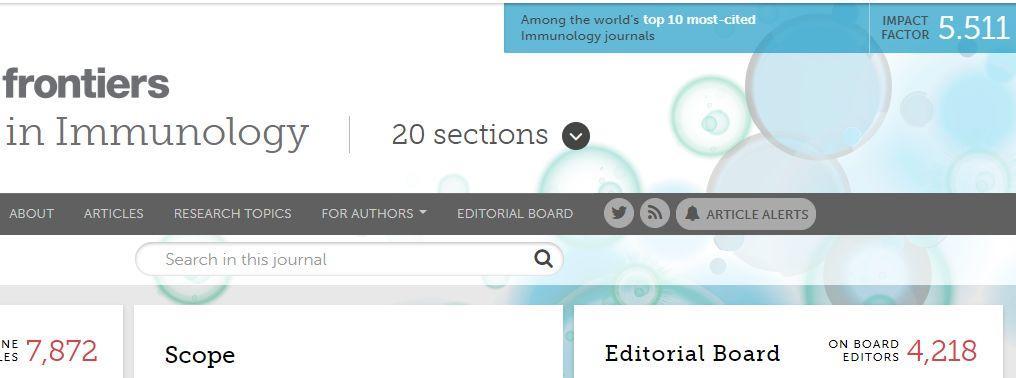 Front. Immunol接受近3000篇文章,平均2个月接受-sci666