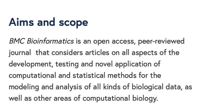 """""""生物信息学""""sci——BMC Bioinformatics以及Bioinformatics-sci666"""