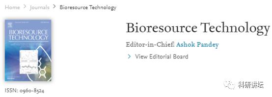 Bioresource Technology审稿速度最快的6分sci期刊