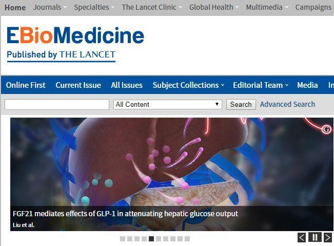 EBiomedicine影响因子5分且审稿快-sci666