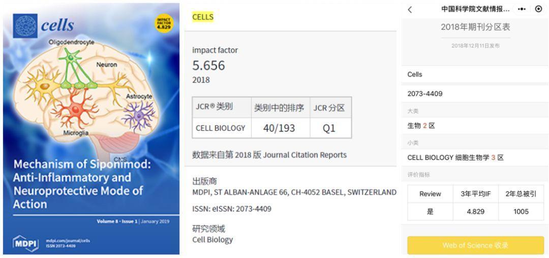 Cells影响因子5分 大扩刊且接收速度特快 慎投!-sci666
