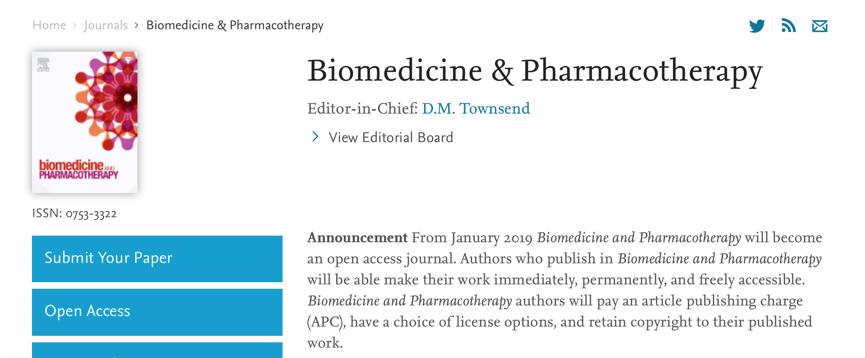 BioMedicine & Pharmacotherapy影响因子3分,速度快可谓是毕业神刊-sci666
