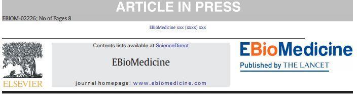 EBioMedicine影响因子6分 预计2020年仍超6分