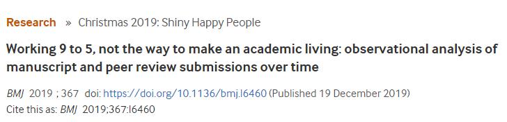 BMJ Open总结了医生写论文时间规律发现中国科研人最辛苦