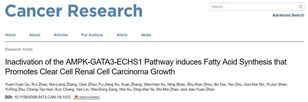 复旦团队阐明肾癌细胞脂质代谢异常机制-sci666