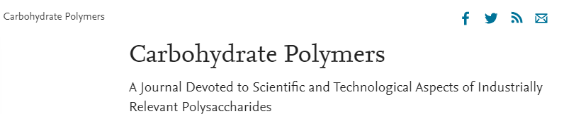 Carbohydrate Polymers影响因子6分 年发文1200篇