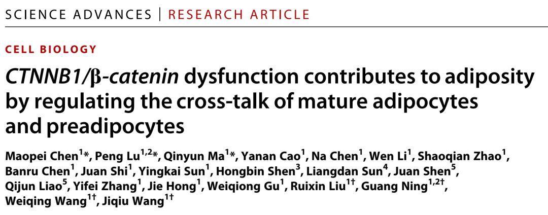 中国团队揭示经典Wnt通路持续激活导致脂肪堆积的机制-sci666