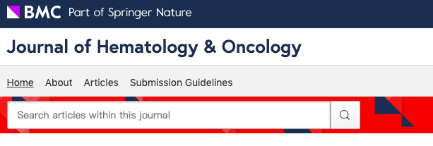 Journal of Hematology&Oncology预测影响因子10分(J HEMATOL ONCOL)