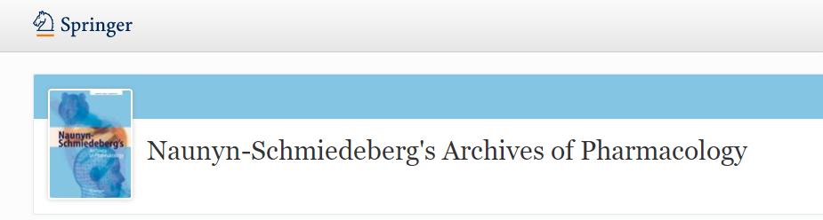 Naunyn-Schmiedeberg's Archives of Pharmacology影响因子2分的药理学期刊