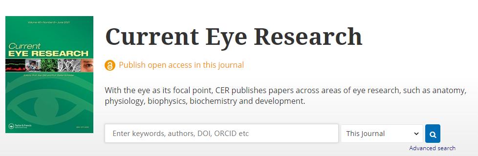 临床医学领域眼科学国人友好高质量科技期刊介绍