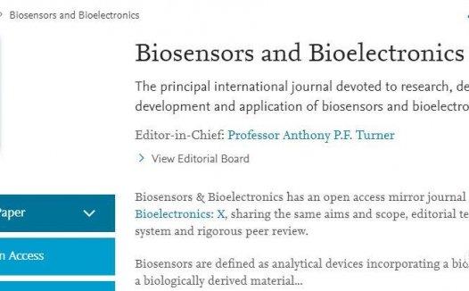 Biosensors and Bioelectronics年发文近1000篇,平均3个月可接受