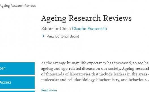 AGEING RESEARCH REVIEWS十年前就是5~6分,如今也要准备突破10分