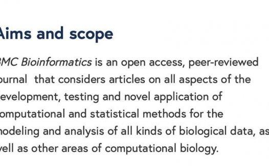 """""""生物信息学""""sci——BMC Bioinformatics以及Bioinformatics"""