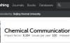 Chemical Communications影响因子6分