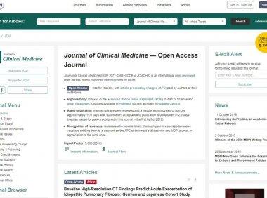 Journal of Clinical Medicine影响因子5分 发文量大且易接收
