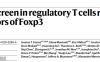 CRISPR筛选发现调节性T细胞中Foxp3新的调节因子