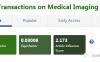 IEEE Transactions on Medical Imaging 影响因子7.8分  免版面费的一区期刊