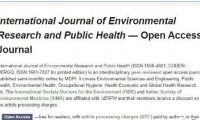 International Journal of Environmental Research and Public Health 投稿图片要求