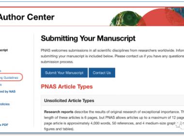 P NATL ACAD SCI USA(PNAS)文章投稿图片要求