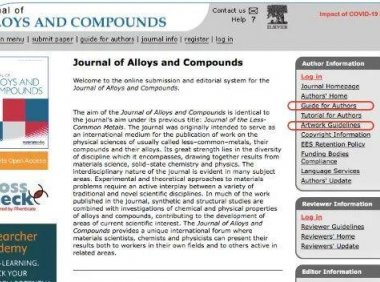 JOURNAL OF ALLOYS AND COMPOUNDS投稿文章图片要求