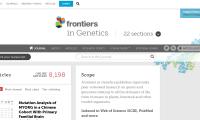 Frontiers in Genetics 2021年影响因子4.6分 生信可投稿 不强调创新性
