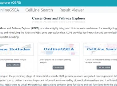 CGPE数据库:肿瘤转录组数据好帮手